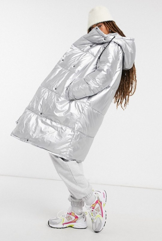 In Wear Hill padded coat in silver (Picture: Asos)