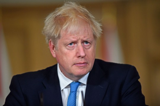 Prime Minister Boris Johnson during a media briefing in Downing Street,