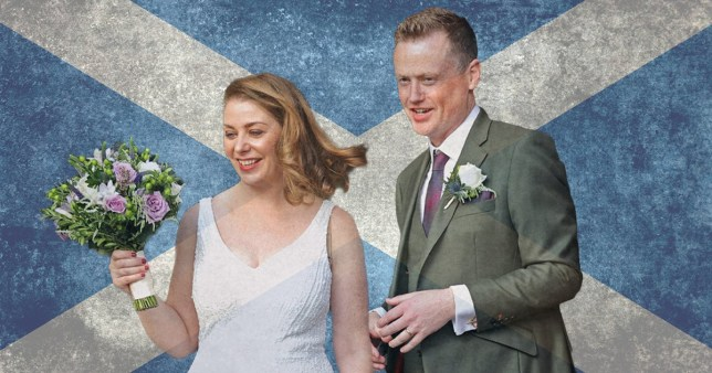 Scottish couples no longer have to wear masks during wedding ceremonies pics: PA/Getty