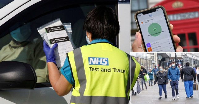 Test and trace system failed to reach nearly 250,000 contacts Getty/PA/Reuters