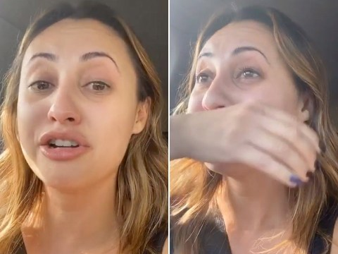 Grown-ish star Francia Raisa breaks down in tears after being 'boxed in by Trump supporters'