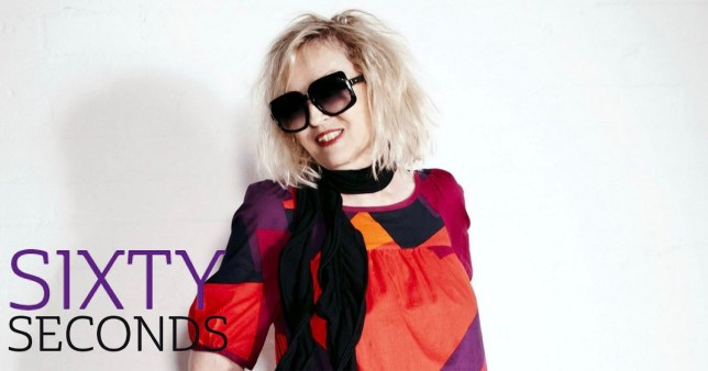 Annie Nightingale on white background with Sixty Seconds logo