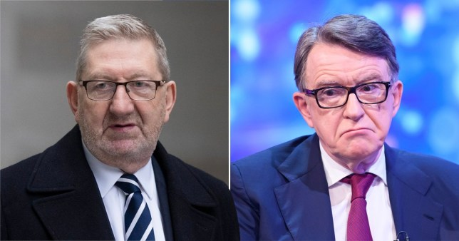 Len McCluskey sparked a furious backlash after telling Peter Mandelson 'to go count his gold'.