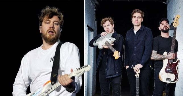 James Bourne and Busted bandmates Matt Willis and Charlie Simpson