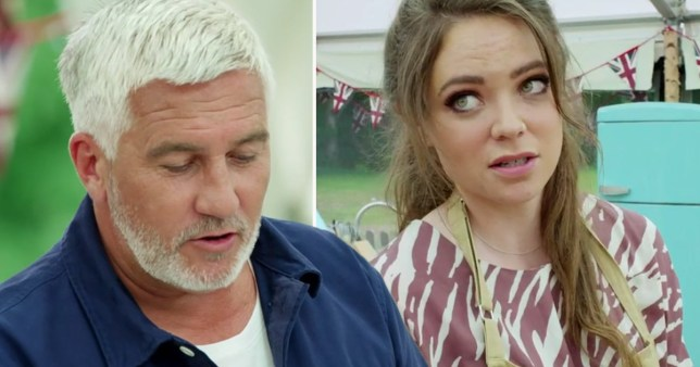 Paul Hollywood and Lottie from Bake Off