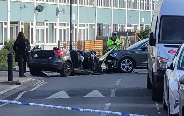 Detectives are appealing for witnesses after four officers were injured in a collision in Southwark.