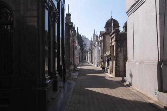 Street of tombs at La Recoleta