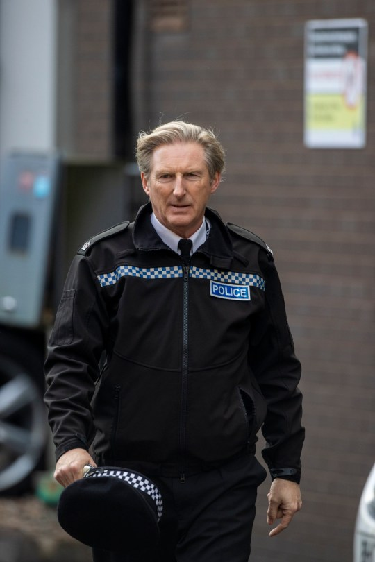 Adrian Dunbar on the set of the sixth series of Line of Duty, which is filming in the Cathedral Quarter, Belfast. PA Photo. Picture date: Wednesday October 21, 2020. See PA story SHOWBIZ Duty. Photo credit should read: Liam McBurney/PA Wire