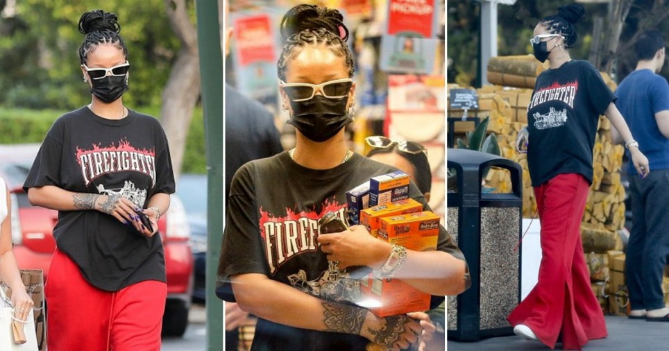 Rihanna buying Uncle Ben's boil in the bag rice