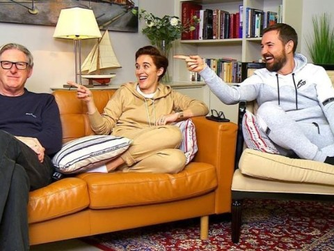 Adrian Dunbar unimpressed as Line of Duty co-star Vicky McClure howls in first look clip from Celebrity Gogglebox