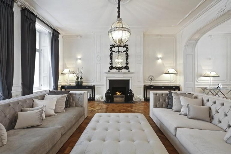 living room in mayfair mansion