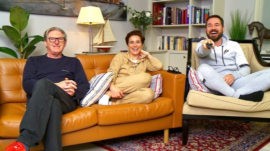 Adrian Dunbar, Vicky McClure and Martin Compston on gogglebox