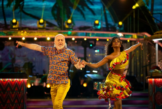 Bill Bailey and Oti Mabuse during the dress rehearsal for Strictly Come Dancing