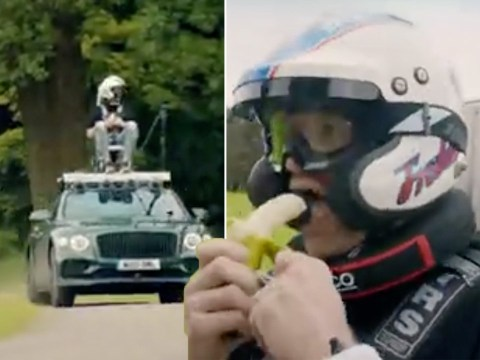 Top Gear first-look: Brave Freddie Flintoff strapped to roof of car as Chris Harris races at high speed