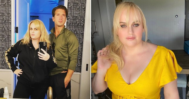 Rebel Wilson exercising with her bf