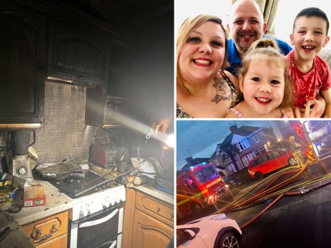 Boy saved mum, sister and rabbit from fire after waking early to watch TV