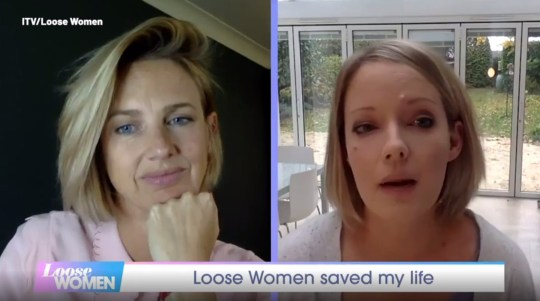 Picture: ITV Watch the emotional moment Loose Women viewer reveals show???s breast cancer discussion saved her life. Rebecca