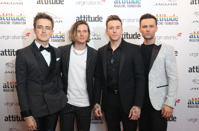 McFly's Tom Fletcher, Dougie Poynter, Danny Jones, Harry Judd.