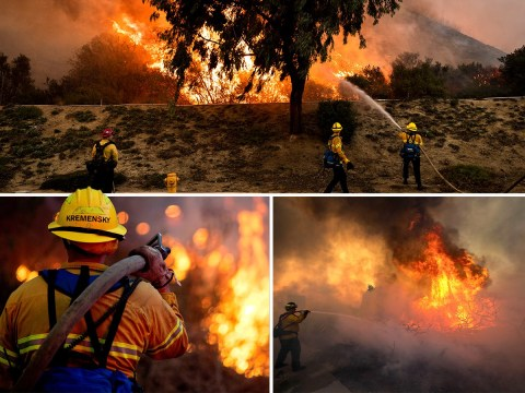100,000 Californians told to evacuate as raging wildfires return
