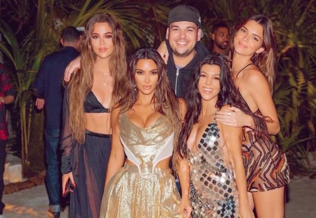 Kim Kardashian, Rob Kardashian, Kourtney Kardashian, Khloe Kardashian, Kenall Jenner