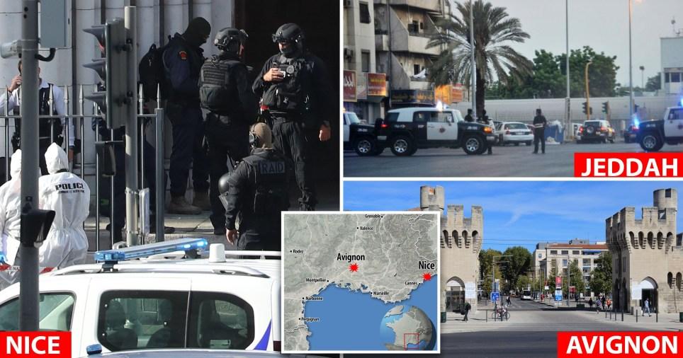France's three knife attacks.