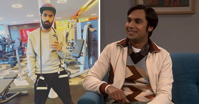 Big Bang Theory's Kunal Nayyar bins all traces of Raj with gym selfie
