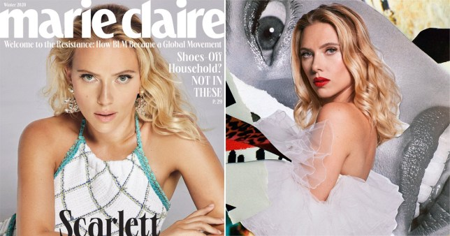 Scarlett Johansson on cover of Marie Claire