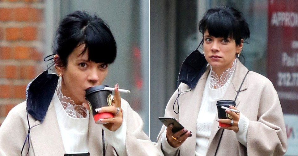 Lily Allen seen in NYC