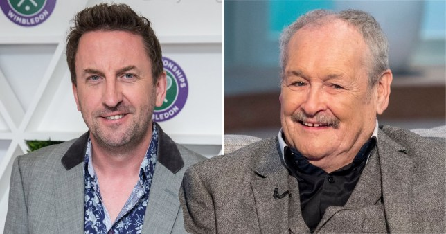 Lee Mack pictured alongside Bobby Ball