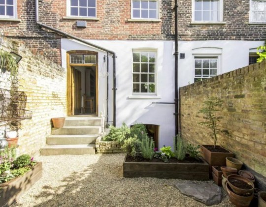 'Extremely rare' house on the oldest terrace in London up for sale - the back garden