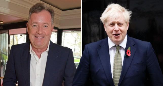 Piers Morgan and Boris Johnson