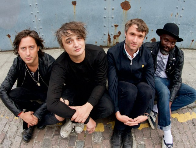 The Libertines (L-R):- Carl Barat, Pete Doherty, John Hassall and Gary Powell