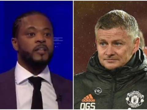 Ole Gunnar Solskjaer responds to Patrice Evra calling Manchester United players 'scared' after Chelsea draw