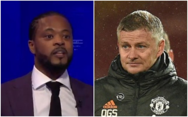 Patrice Evra claims  Manchester United's players played with 'fear' against Chelsea