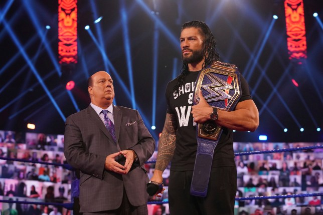 WWE superstars Paul Heyman and Roman Reigns on SmackDown
