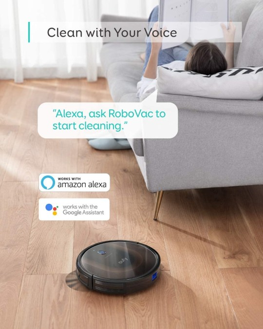 Why lift a finger to clean when the robot will do it for you? (Eufy/Amazon)