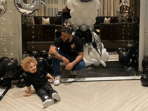 Drake grins from ear to ear as he celebrates his son Adonis' third birthday in rare Instagram post