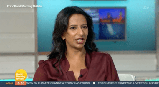 Ranvir Singh on Good Morning Britain