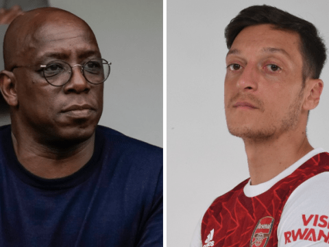 'Gutted' Ian Wright sends message to Arsenal outcast Mesut Ozil after Premier League snub