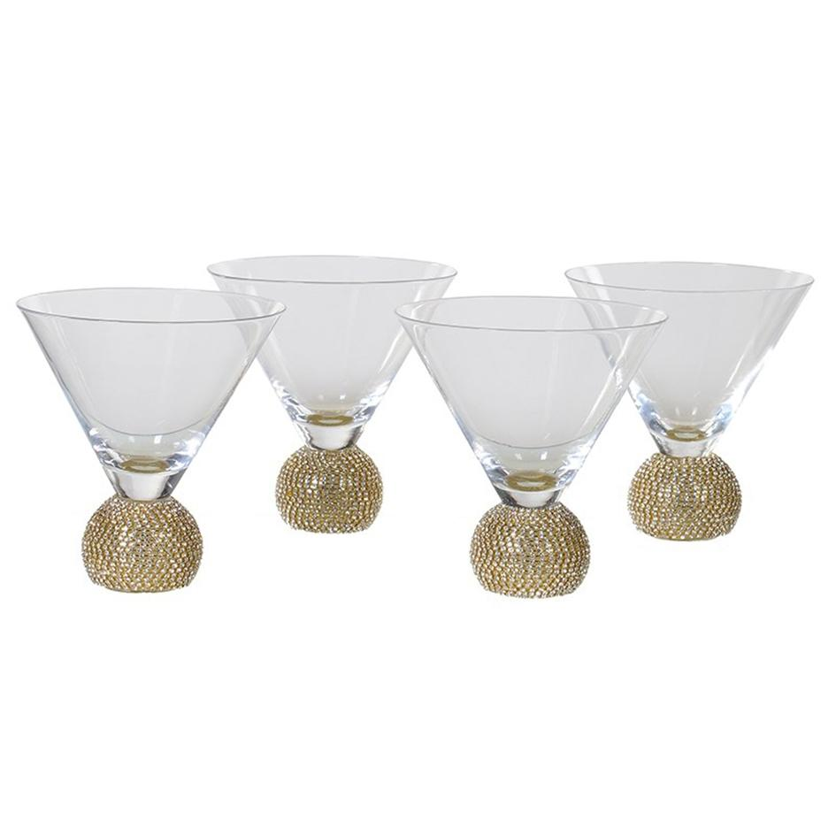 Shabby Store Gold Martini Glasses