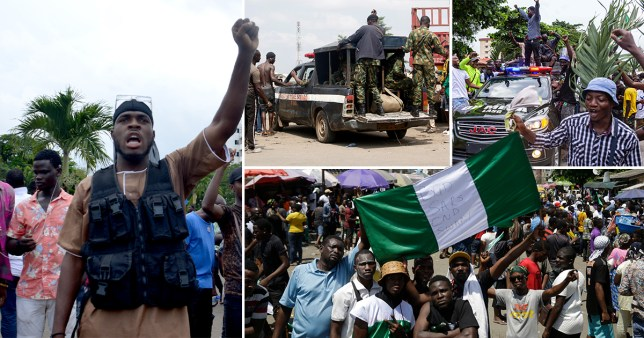 Nigeria security forces 'kill several people after opening fire on protesters'