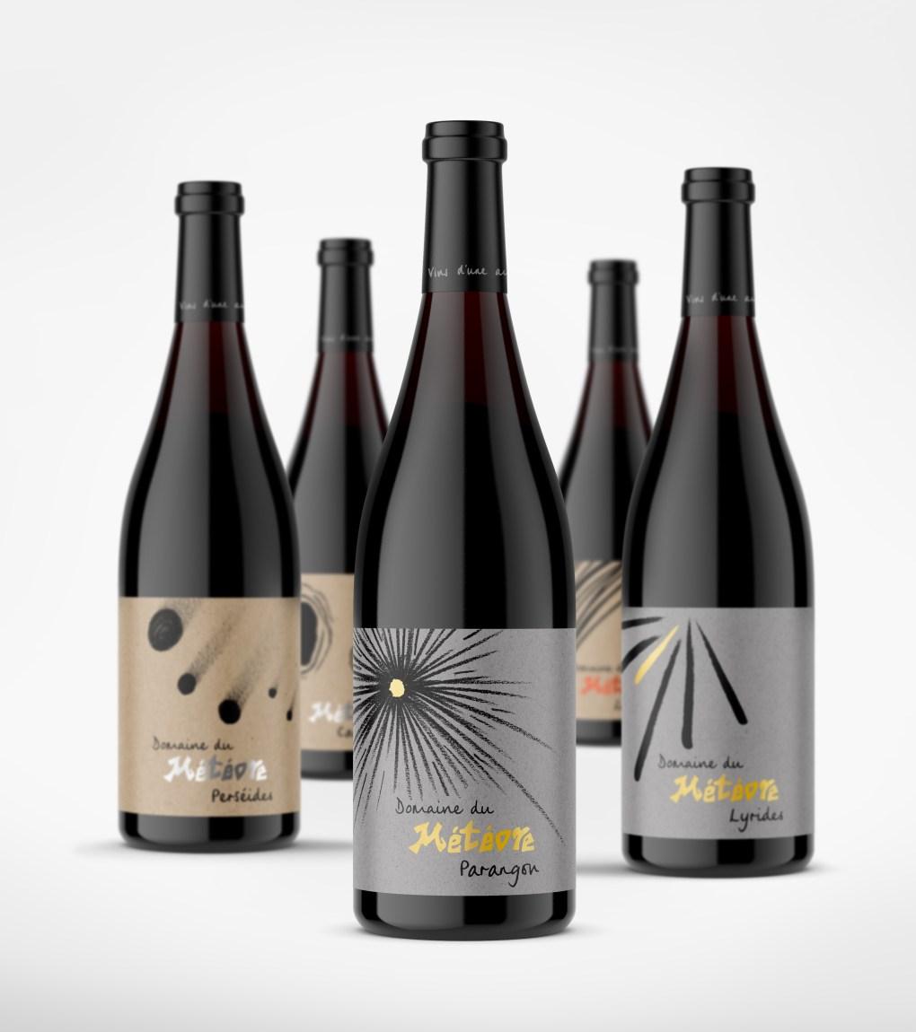 Domaine du Météore's wine tasting case