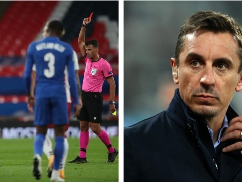 Gary Neville slams Manchester United captain Harry Maguire over England red card during Denmark defeat