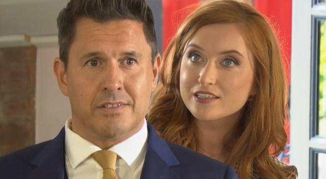 Verity and Kurt in Hollyoaks