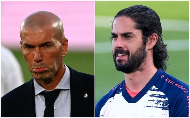 Isco is not happy with Zinedine Zidane at Real Madrid