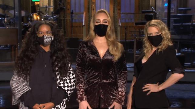 Adele, Kate McKinnon and H.E.R