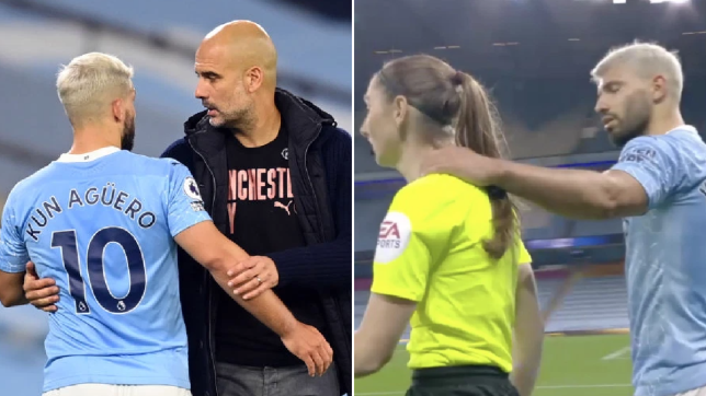 Manchester City boss Pep Guardiola defends Sergio Aguero over Sian Massey-Ellis grab
