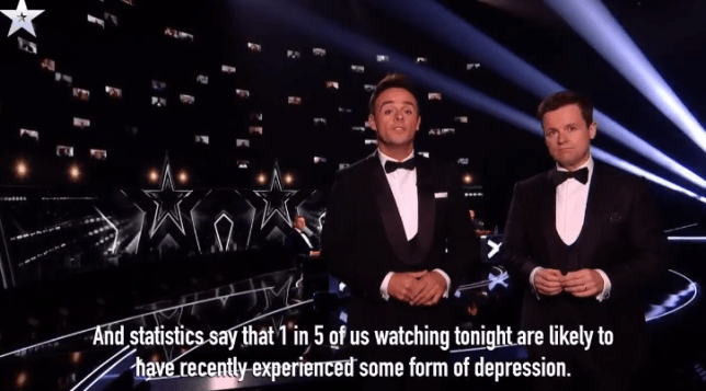 Ant and Dec stop final to share shocking mental health statistics