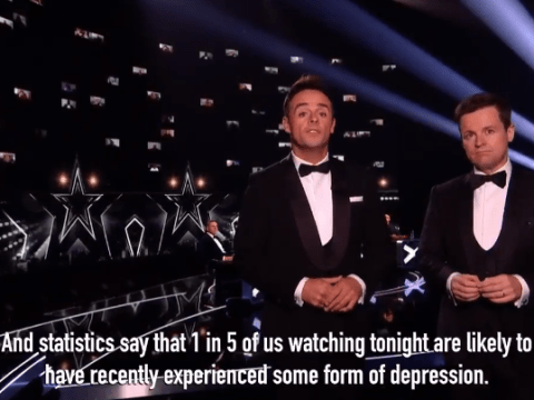 BGT 2020: Ant and Dec stop final to share shocking mental health statistics for Britain Get Talking campaign