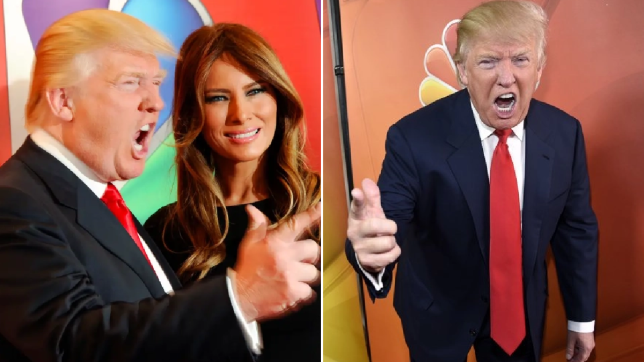 Donald and Melania Trump at an Apprentice promo event in 2012